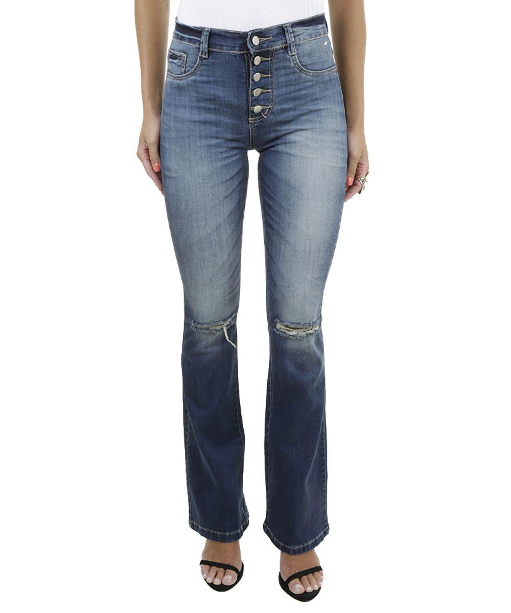 9bf60f7fe7 Calça Jeans Flare Sawary Azul Médio - cea