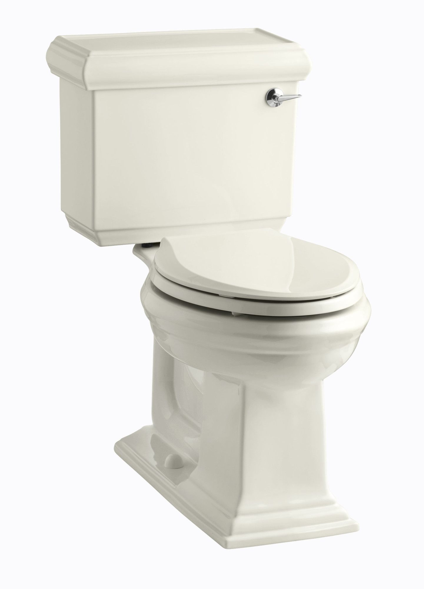 Memoirs Classic Comfort Height Two-Piece Elongated 1.28 GPF Toilet with Aquapiston Flush Technology and Right-Hand Trip Lever