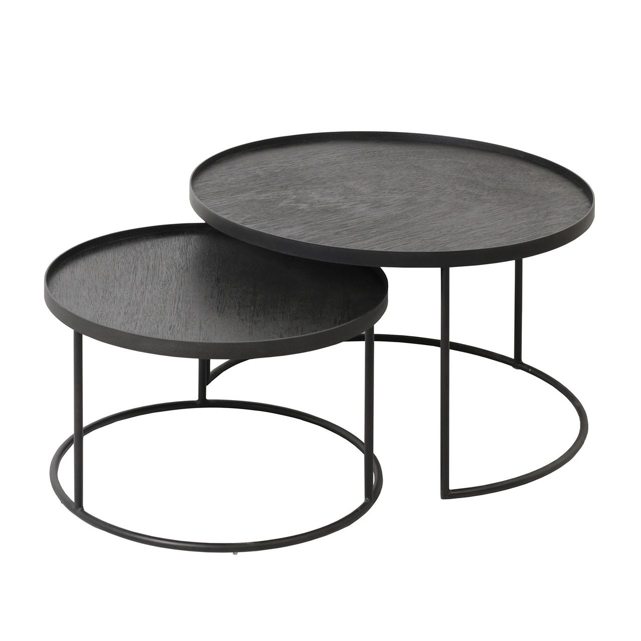 Round Nesting Tray Tables Set Low Nesting Coffee Tables Round Metal Coffee Table Round Nesting Coffee Tables [ 1280 x 1280 Pixel ]