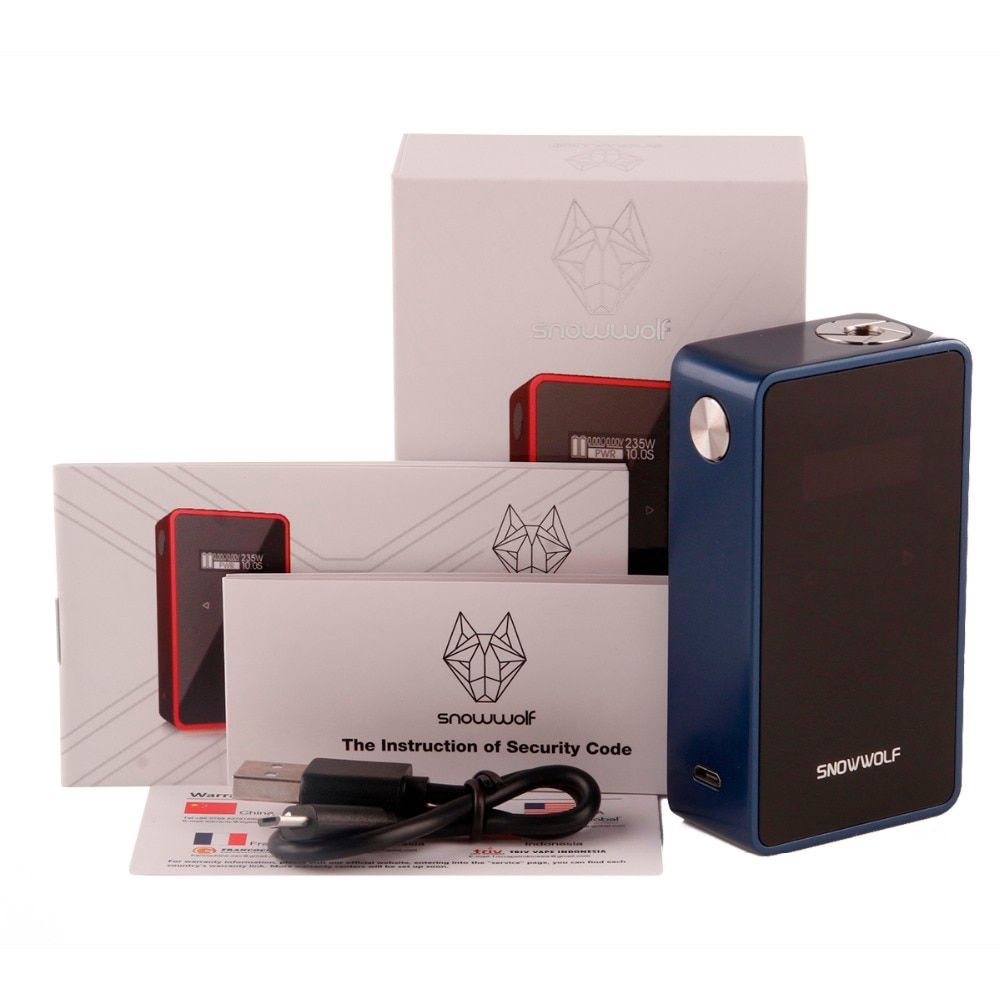 Original Snowwolf 200W Plus C Box Mod TC Electronic Cigarette Mods