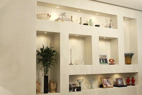 Nichos drywall decor estantes pinterest moderno for Estantes modernos