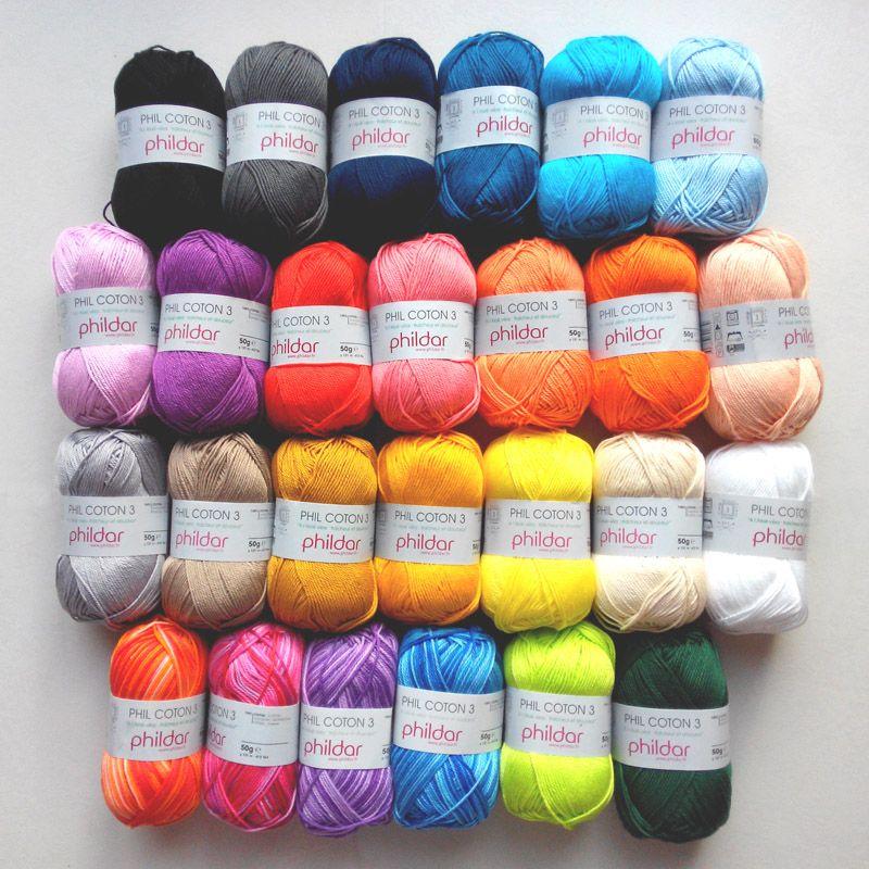 Coton A Crocheter, Tricoter, Marque Francaise, Gamme De Couleur, Grande  Marque, b344f53429e