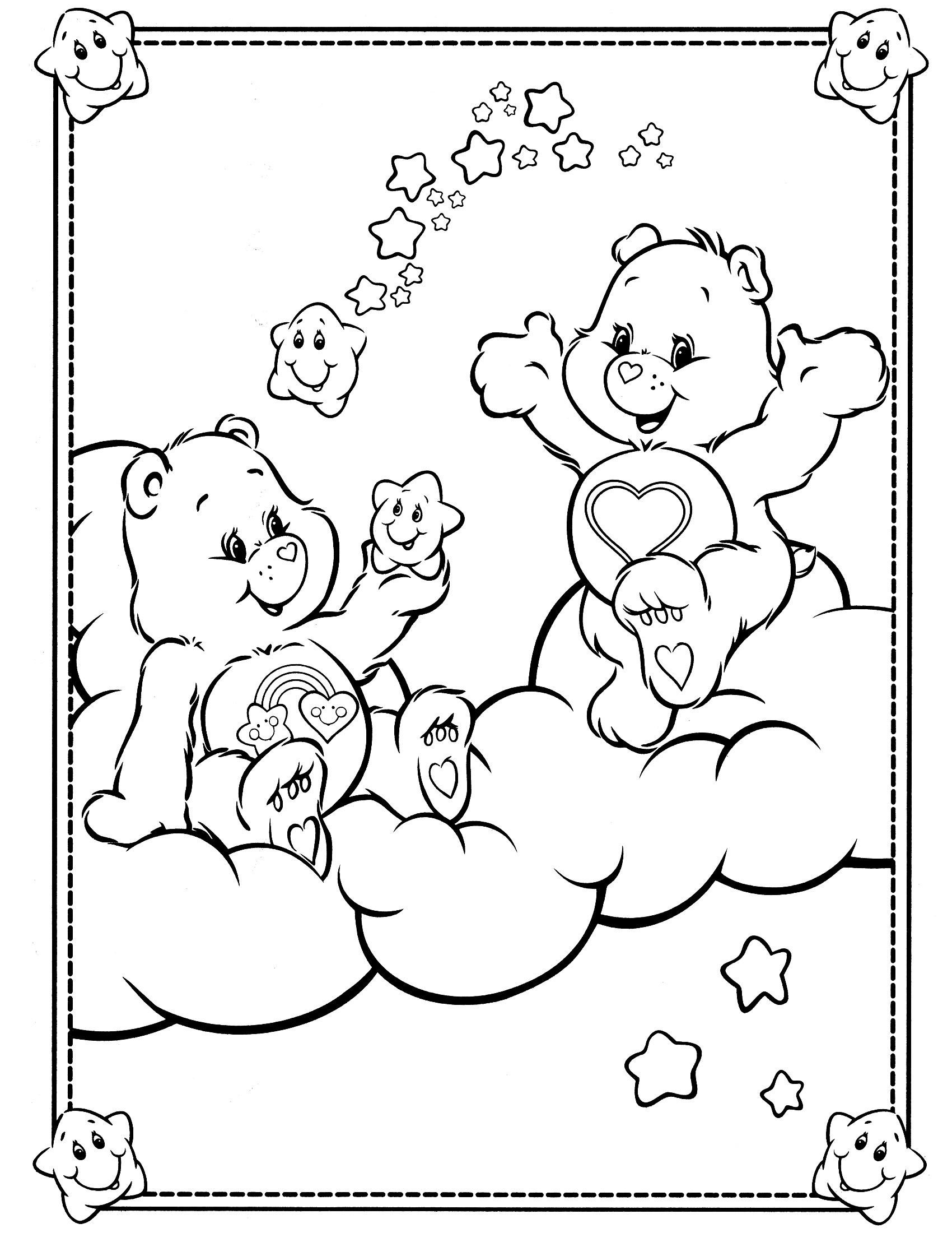 care bears coloring page valentine u0027s pinterest care bears