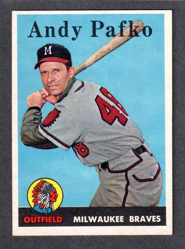 1958 Topps 223 Andy Pafko Milwaukee Braves Ex Mint A My Guys