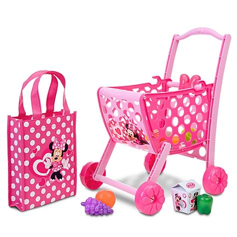 Minnie Mouse Shopping Cart with Accessories | Minnie mouse