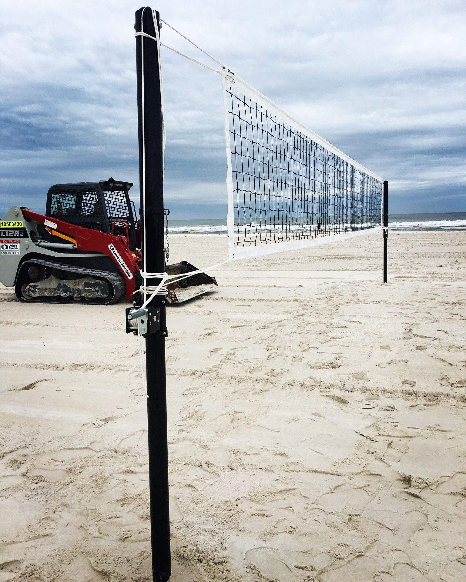 Beach Volleyball Court Set Up For The 2017 Ncaa Beach Volleyball Championship Beach Volleyball Court Volleyball Net Volleyball