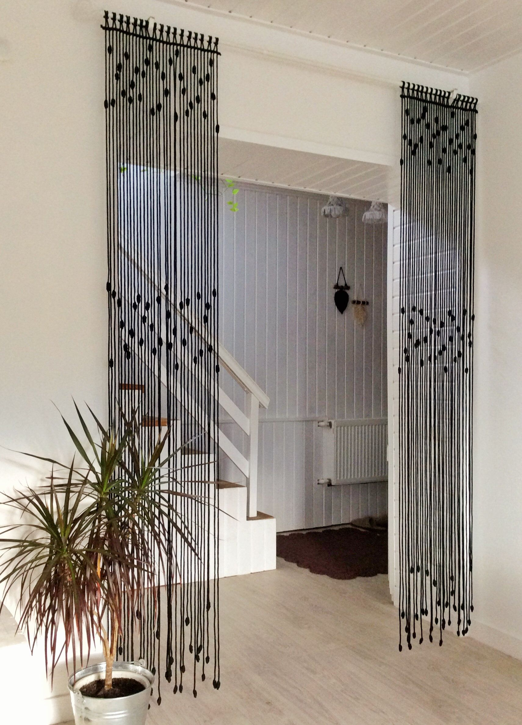 Macrame Curtain Room Partition Door Curtain Retro Wall Carpet Boho