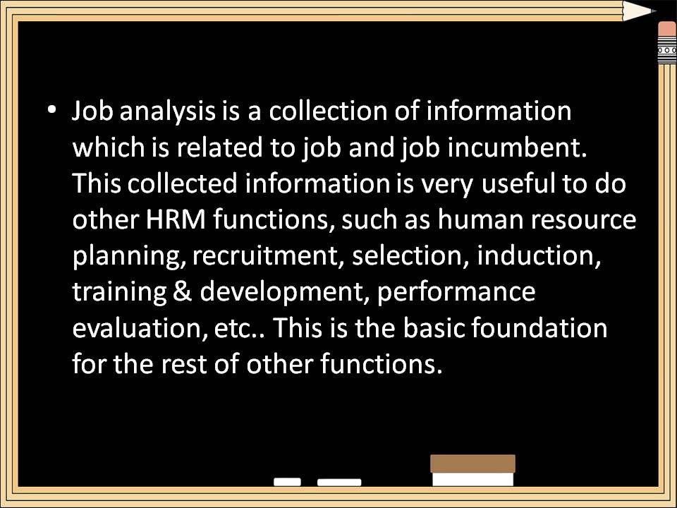 Job Analysis Job Analysis Analysis Training And Development