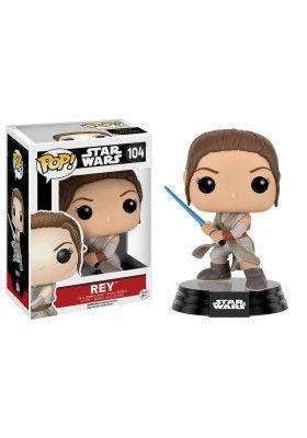 Figura Pop Star Wars Episodio VII: Rey (Battle Pose) 9 cm