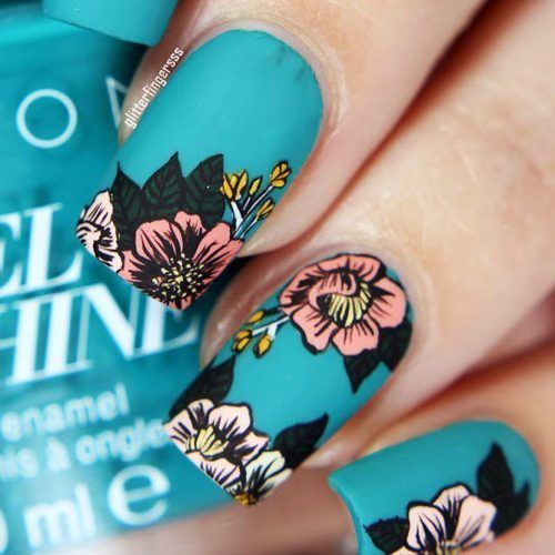 12 Super Pretty Flower Nail Designs Pinterest Flower Nail
