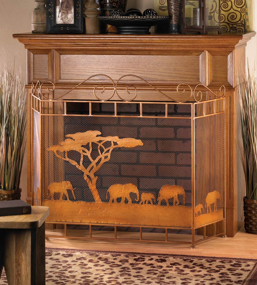 WILD SAVANNAH FIREPLACE SCREEN. Set the scene for style with this ...
