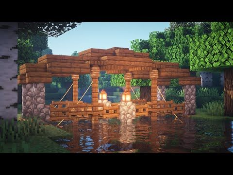 Minecraft How To Build A Roofed Bridge Youtube Em 2020