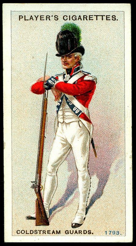 Cigarette Card - Coldstream Guards, 1793