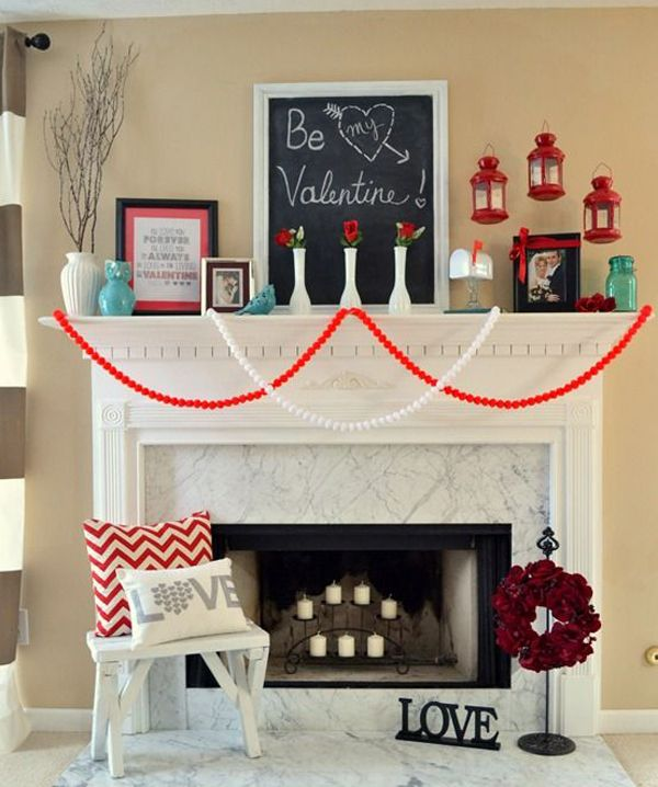 Perfect 20 Gorgeous Valentineu0027s Day Mantel Decorations | Home Design And Interior Images