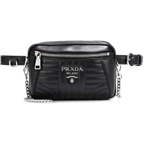 77bde5006b08c1 Prada Diagramme Leather Belt Bag (€915) ❤ liked on Polyvore featuring bags,