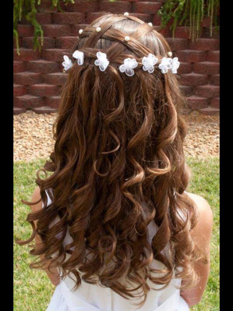 Pretty Little Flower Girl Hair Hair Pinterest Flower Girl Hair