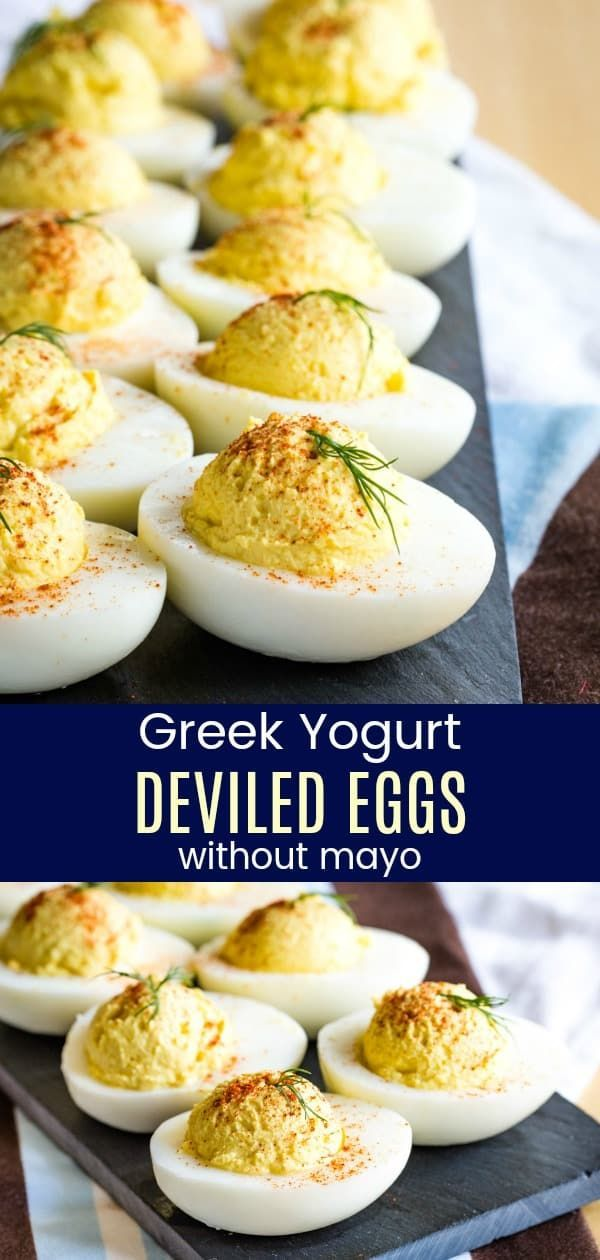 No Mayo Deviled Eggs with Greek Yogurt - Cupcakes & Kale Chips