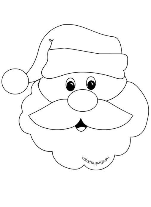Santa Claus Face With Big Beard How To Draw Santa Easy