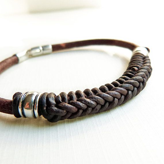Spanish Braid Braided Leather Bracelet For Men Women