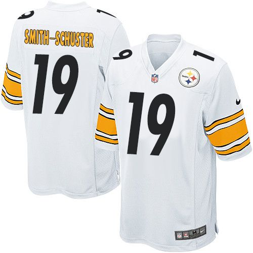 6a38dd4eb Men s Nike Pittsburgh Steelers  19 JuJu Smith-Schuster Game White NFL Jersey