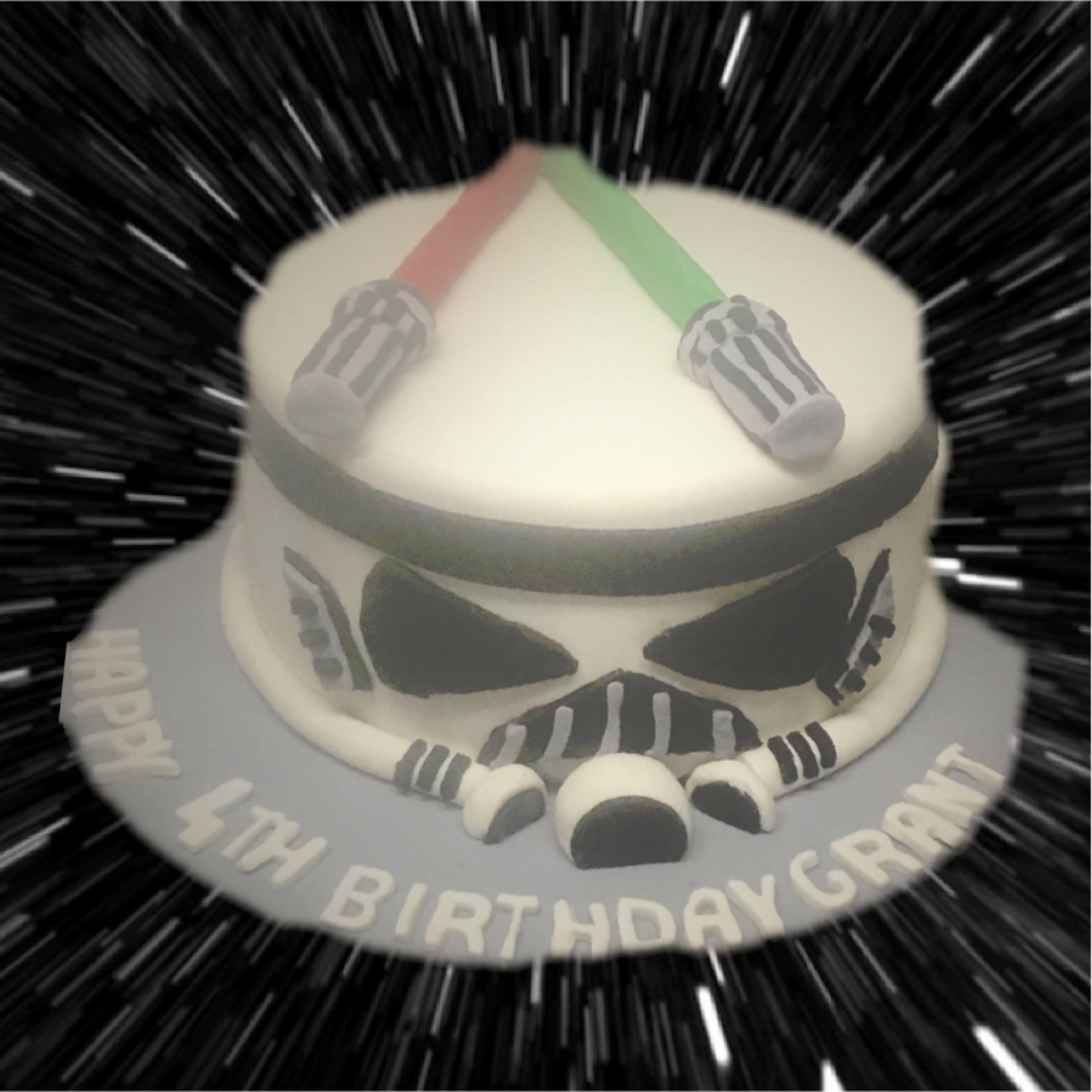 Surprising Storm Trooper Birthday Cake Star Wars Themed Muellers Bakery Personalised Birthday Cards Vishlily Jamesorg
