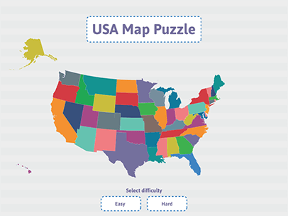 Geography Practice - USA Puzzle Map   ABCya!   United States ...