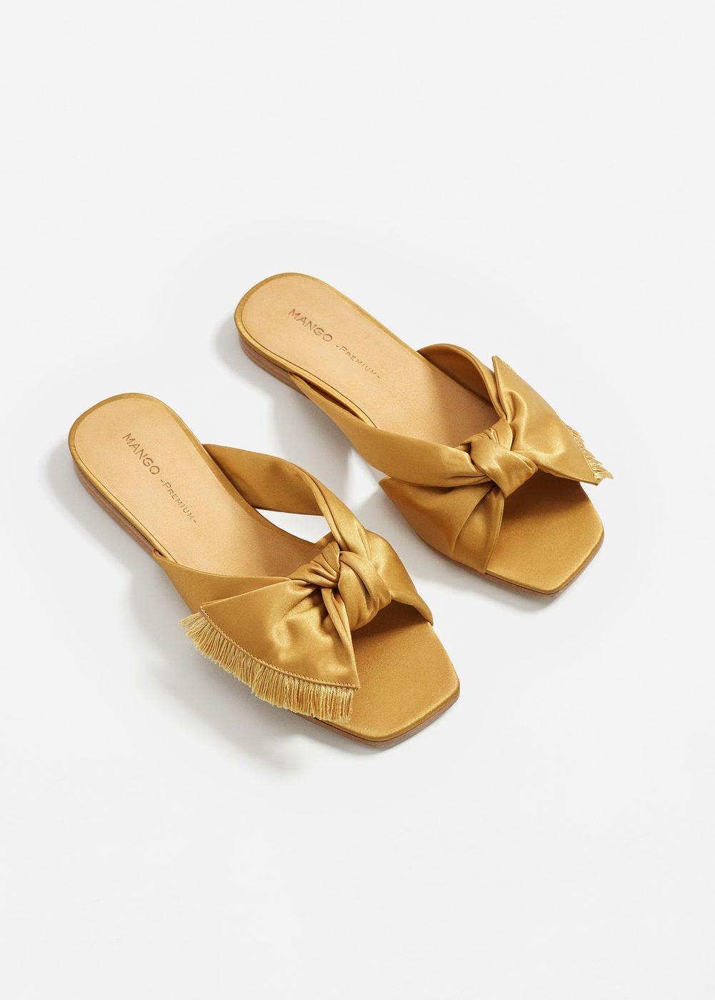 6ca882ae5476c Bow satin sandals - Women   一些美鞋   Sandals, Shoes, Shoes sandals