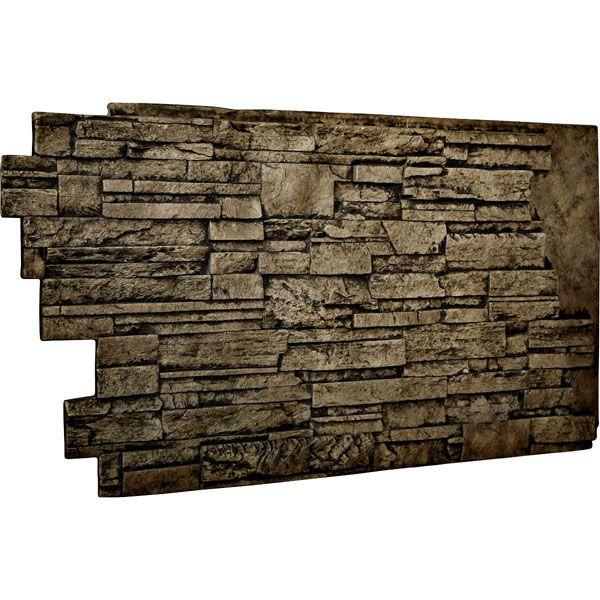 48 Quot W X 25 Quot H X 1 1 2 Quot D Dry Stack Endurathane Faux Stone
