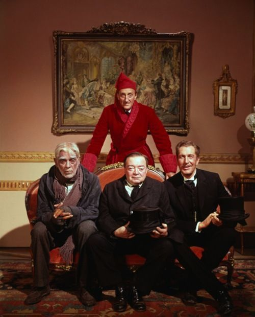 1964 Boris Karloff Horror movie poster print 3 The Comedy of Terrors