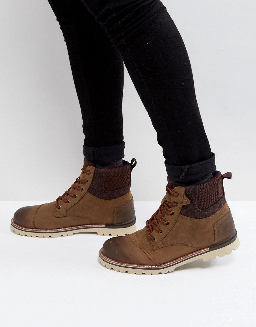 Sneakers men, Leather lace up boots