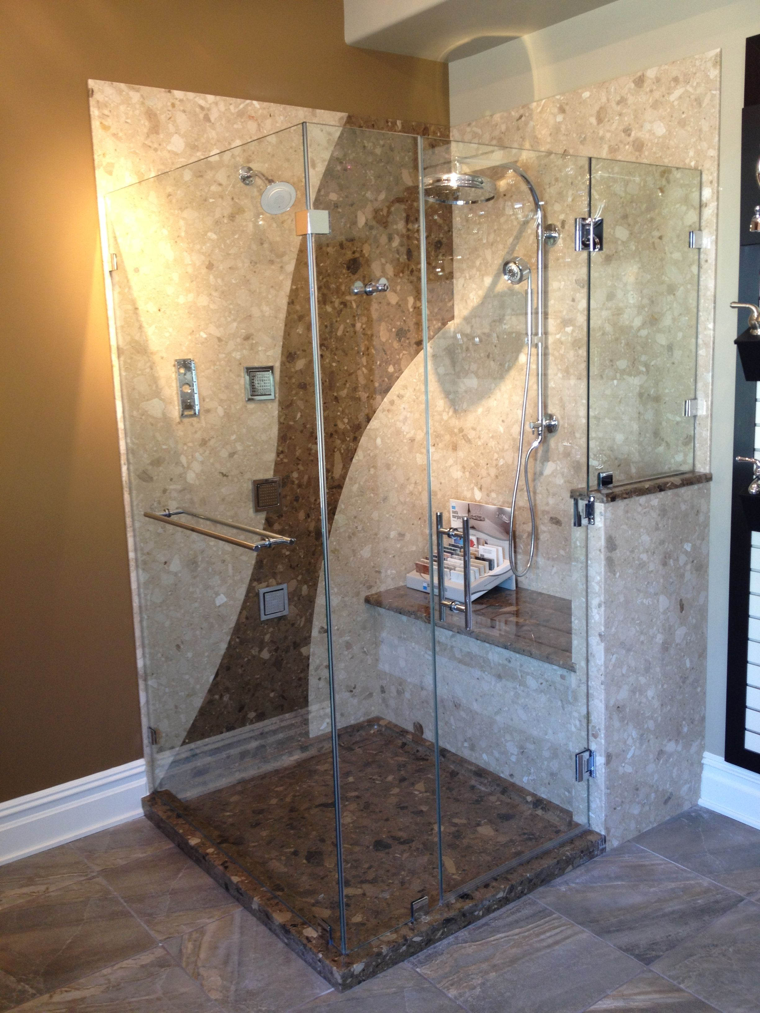 Groutless Stone Shower Surround By Verona Showers Eurostonecraft