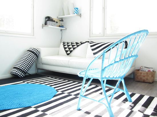 Mmmmm. Black and white and turquoise - so effective! bambula blog