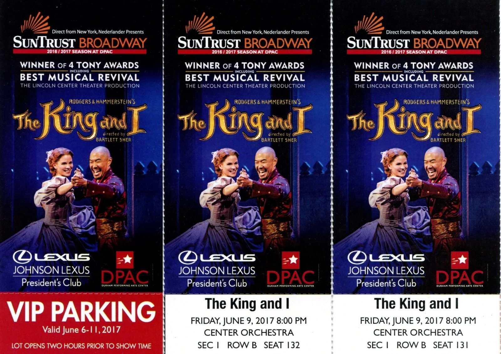 The King And I Durham Tickets 061117 Durham Vip Tickets