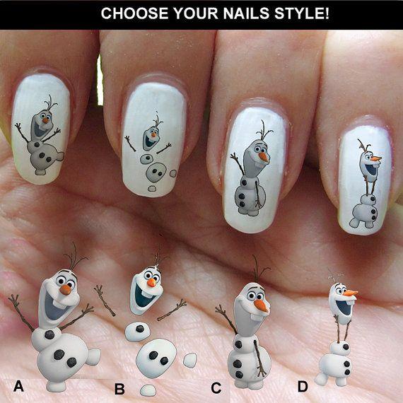 Frozen Disney nail art cartoon nail art mickey by nailstarworld, $5.90