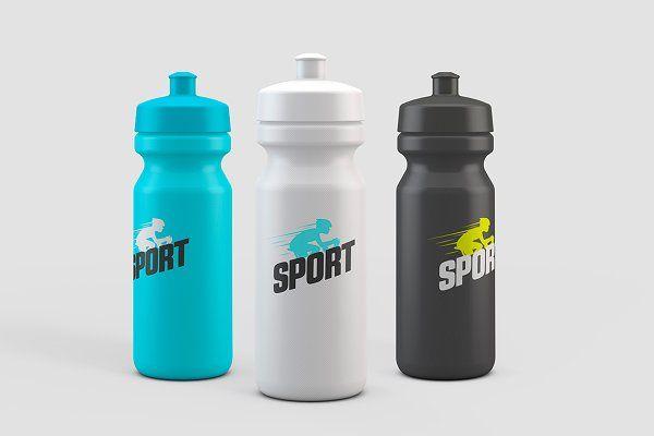 Download Sport Water Bottle Mock-Up | Bottle mockup, Sport water ... Free Mockups
