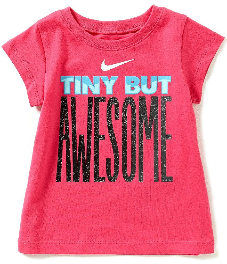 Nike Baby Girl Clothes Alluring Nike Baby Girls 1224 Months Tiny But Awesome Shortsleeve Tee 2018