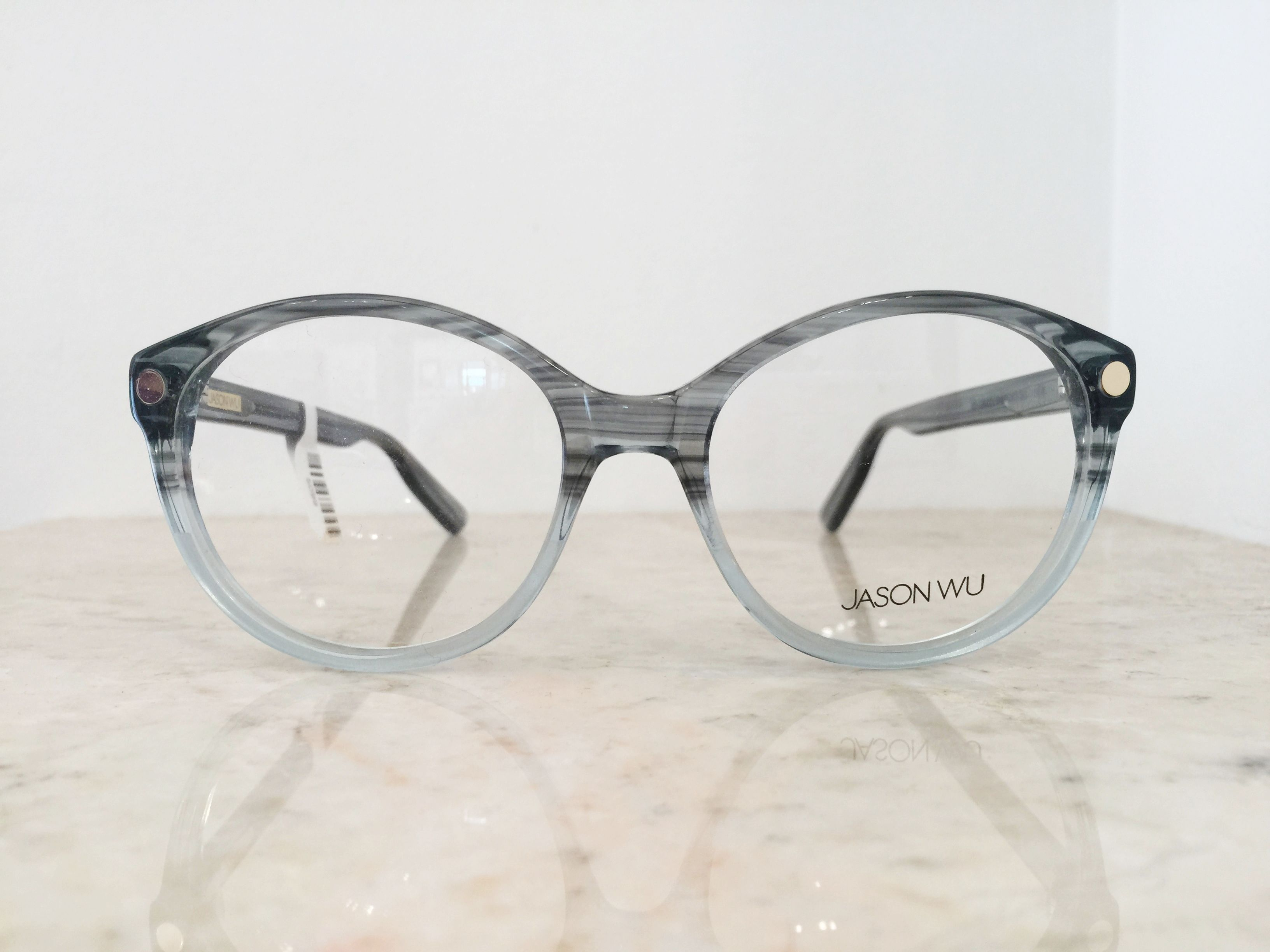 53827a4c8e7d Jason Wu blue grey two-tone  hipster round glasses frames
