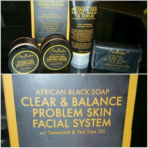 Shea Moisture African Black Soap Clear Balance Problem Skin Facial System Target 19 99 African Black Soap Shea Moisture Products Facial System