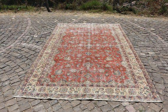 large turkish area rug, vintage rug Free Shipping 6.6 x 10.0 natural wool rug, handwoven rug, floor rug, boho decor rug, tribal rug MB4647 ,  #Area #boho #decor #floor #free #handwoven #Large #MB4647 #Natural #Rug #shipping #Tribal #Turkish #Vintage #Wool #woolRugshandwoven