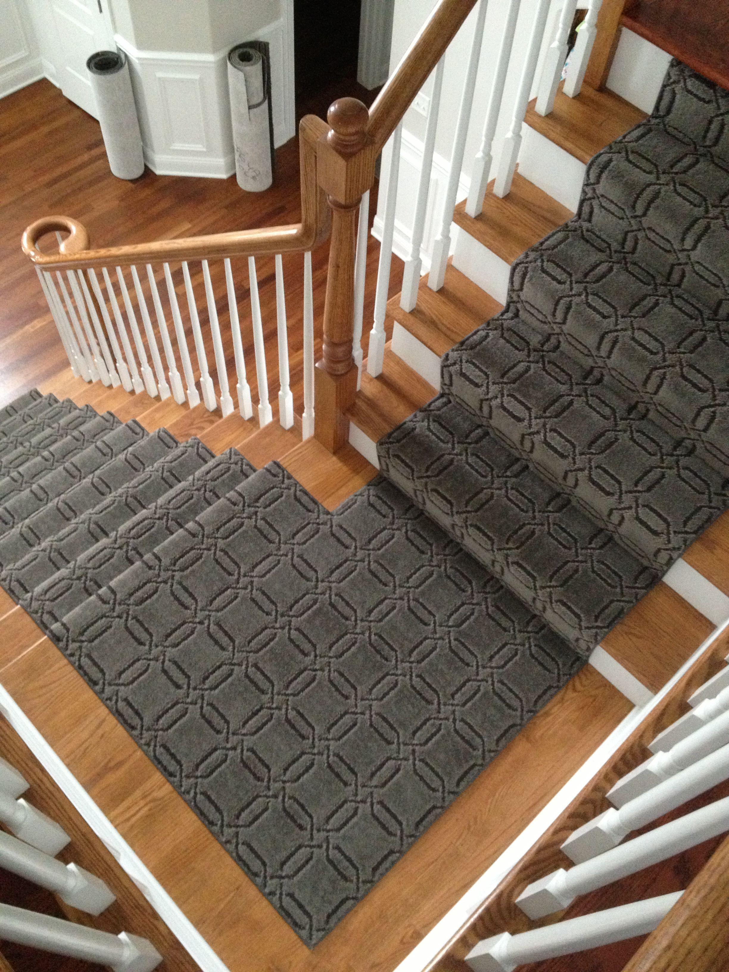 Pin On Stair Runners   Traditional Stair Carpet Runners   Bespoke   Patterned   Modern   Stair Landing   Dark Stain