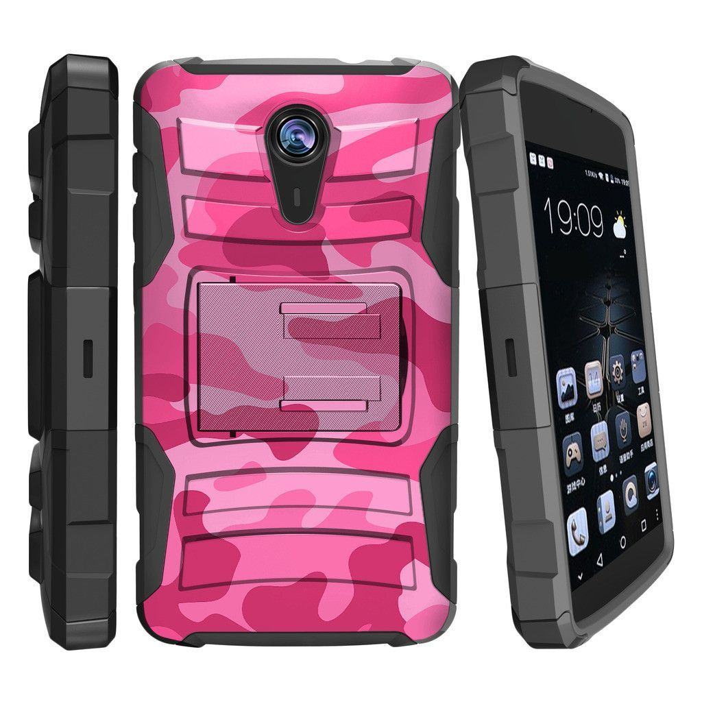 finest selection 712fb 6ece7 ZTE Quest N817 Case CLIP ARMOR, Dual Holster Case with Kickstand ...