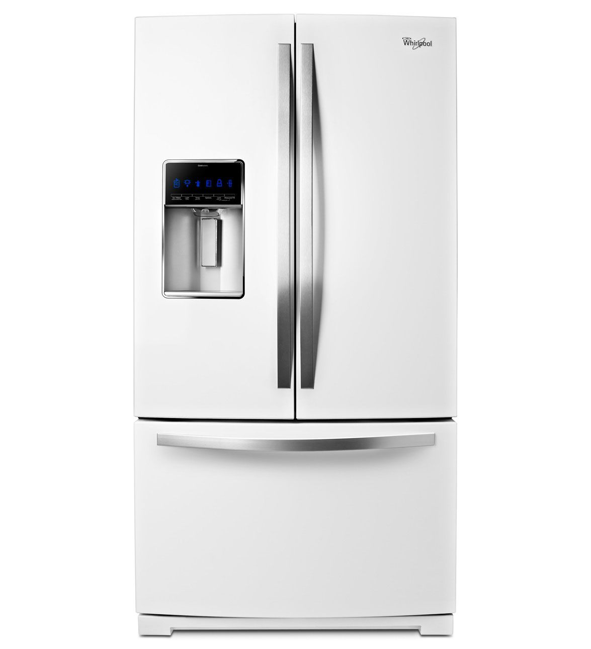 whirlpool has a new appliance color  check out the white ice collection  this whirlpool 29 cu  french door refrigerator offers enough space to hold bulk     whirlpool   29 cu  ft  french door refrigerator with the most fresh      rh   pinterest com