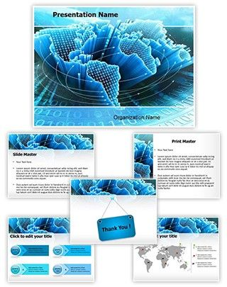 information technology powerpoint template is one of the best, Modern powerpoint