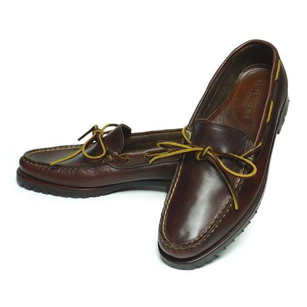 Ralph Lauren ラルフローレン モカシンシューズ レザーシューズ 革靴 USA製【$395】[030]