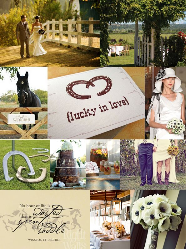 Horse Wedding Theme Top Row Image By Alante Photography Lord