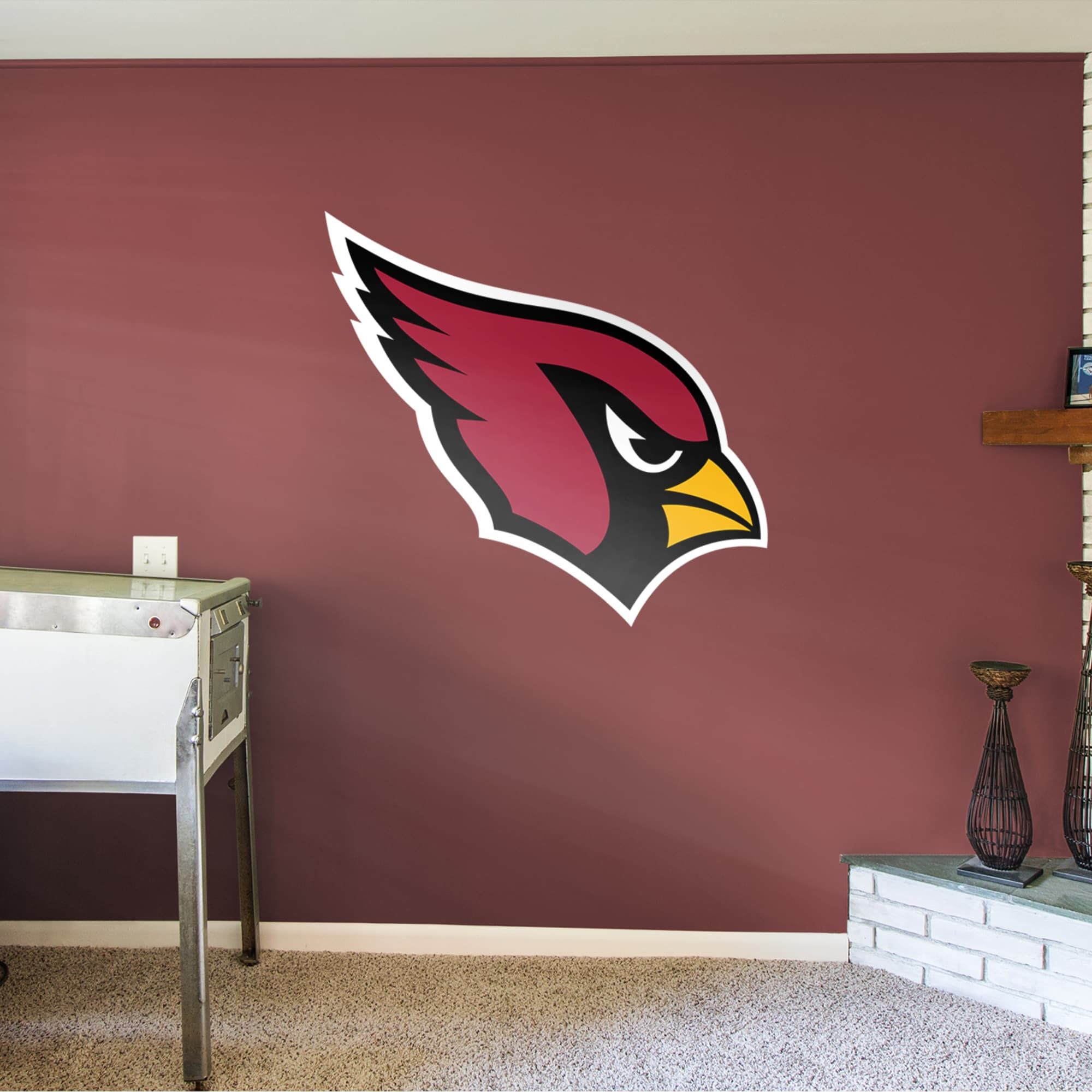 Arizona Cardinals Logo Giant Officially Licensed Nfl Removable Wall Decal Wall Decals Removable Wall Decals