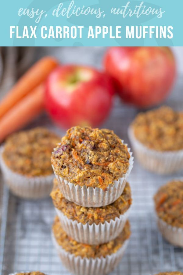 Flax Carrot Apple Muffins Recipe