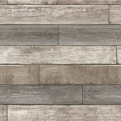 Nuwallpaper Reclaimed Wood Plank Natural Peel Stick Wallpaper Gray In 2021 Stick On Wood Wall Peel And Stick Wallpaper Wood Plank Wallpaper