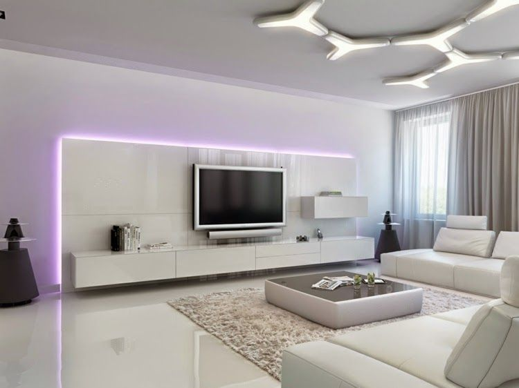 interior LED lights futuristic furniture with LED lights home