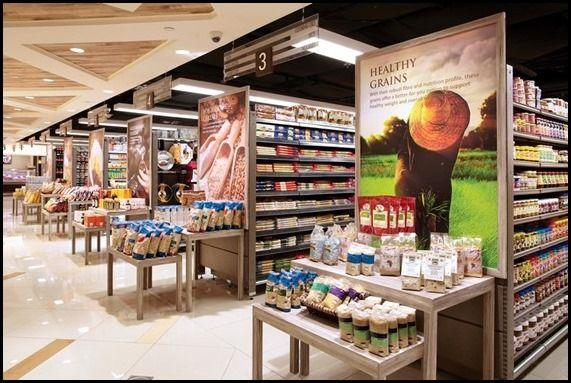 Raffles City Market Place Cold Storage Food Signage Food Shop Supermarket
